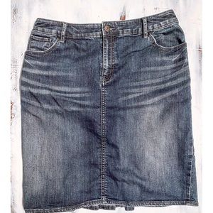 Anthropologie Denim Skirt: Pilcro and the Press.